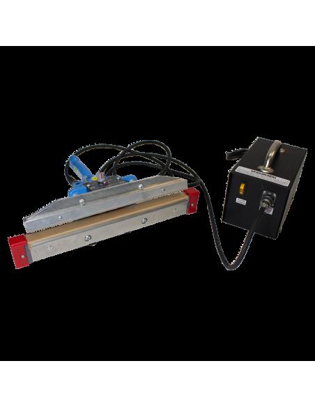 Impulsní svářecí kleště folií SKI-300 pohled na kleště a zdroj