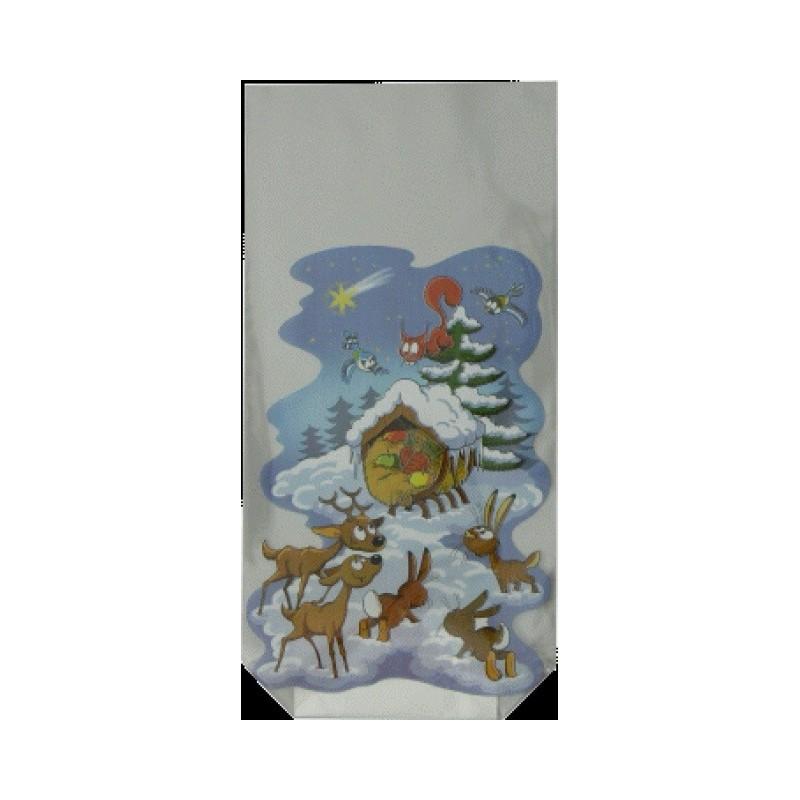 Vánoční sáček Zvířátka s pevným...