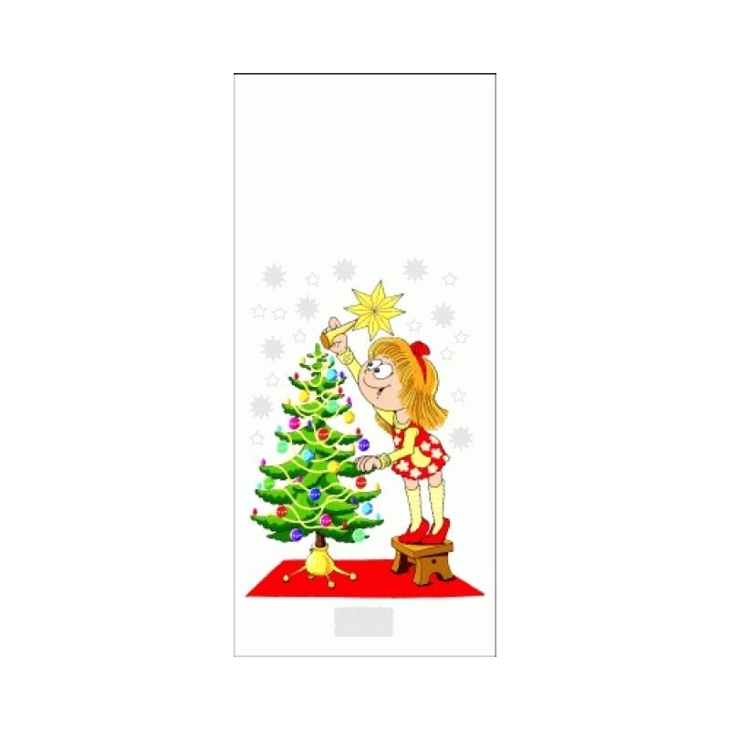 Vánoční sáček Stromek s dívkou