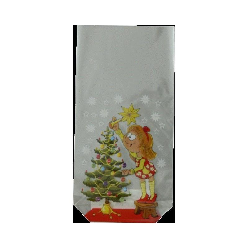 Vánoční sáček Stromek s dívkou s...