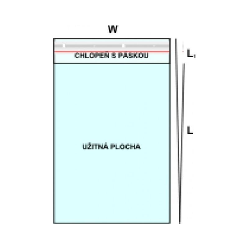 Polypropylenový sáček s chlopní a lepením PP 60x200/50μm